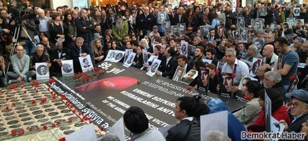 Ermeni Soykırımı kurbanları Taksim'de anıldı