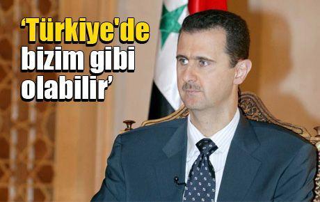 Esad: Türkiye'de bizim gibi olabilir