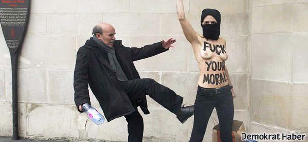 FEMEN'in Tyler'a destek eylemine saldırı