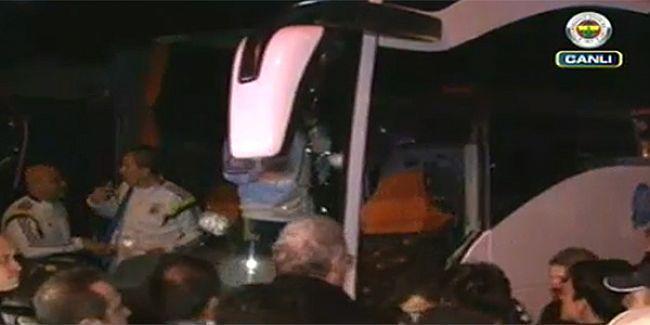 Fenerbahçe otobüsüne Rize-Trabzon yolunda silahlı saldırı