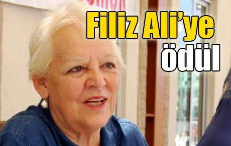 Filiz Ali'ye ödül