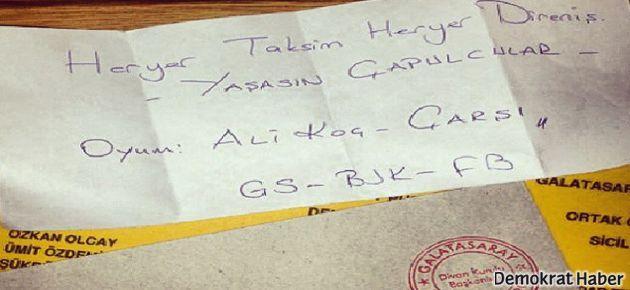 Galatasaray kongresinde Ali Koç ve Çarşı'ya oy