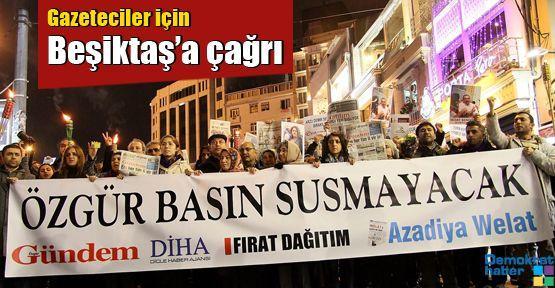 Gazeteciler için Beşiktaş'a çağrı