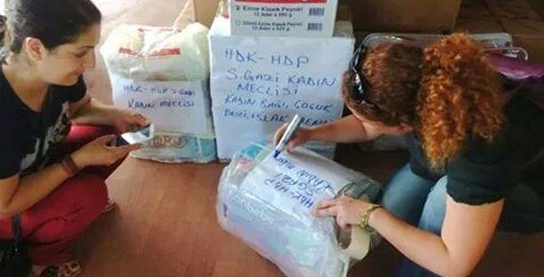 Gazi Mahallesi'nde Ezidiler için yardım kampanyası