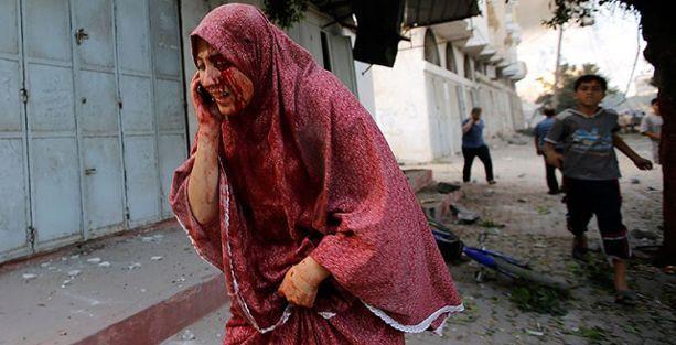 Gazze'de bir cadde, 4 dakika ve 28 bomba