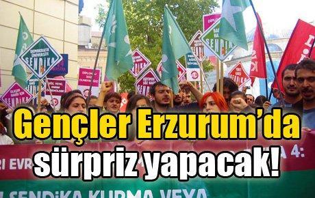 Gençler Erzurum'da sürpriz yapacak!