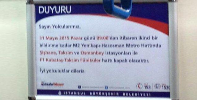 Gezi direnişinin yıldönümünde Taksim'e ulaşım engellenecek