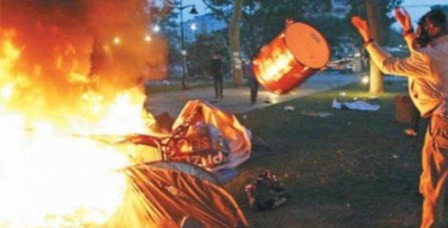 Gezi Parkı'nda çadır yakan zabıtalar için karar