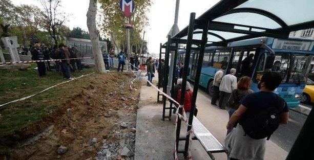 Gezi Parkı'nda kazı tepkiler üzerine durdu