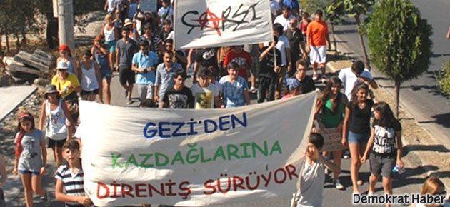 Gezi'de direnen çapulcular şimdi Kazdağları'nda