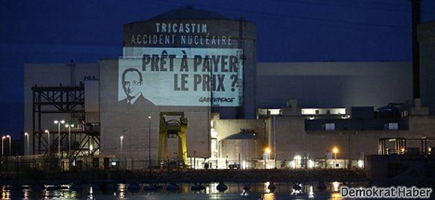 Greenpeace Fransa'da 'nükleer santrale girdi'