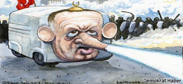Guardian, Erdoğan'ı TOMA'ya benzetti