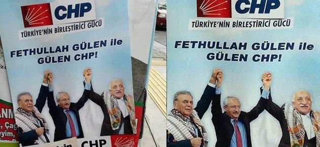 Gülen fotoğraflı CHP afişi