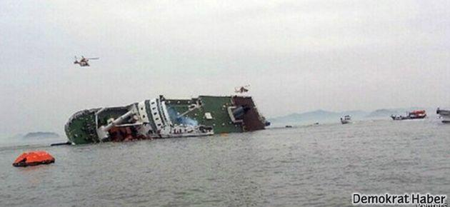 Güney Kore'de 476 yolcuyu taşıyan gemi battı