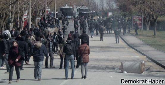 Hacettepe'de polis şiddeti