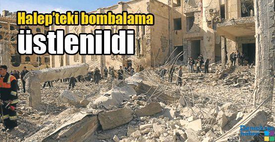 Halep'teki bombalama üstlenildi