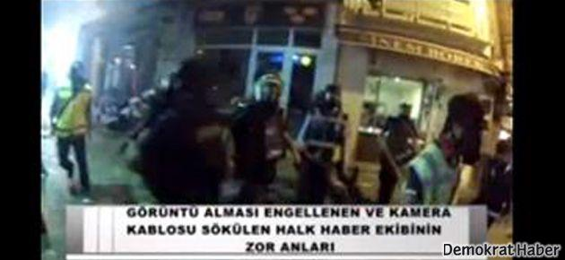 Halk TV ekibine polis saldırısı
