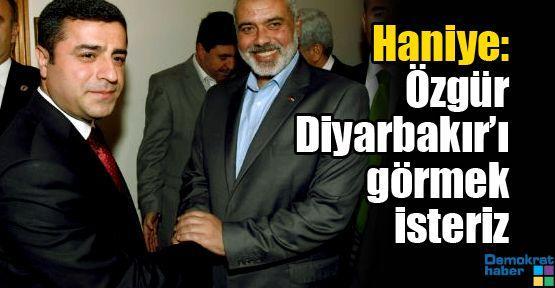 Haniye: Özgür Diyarbakır'ı görmek isteriz