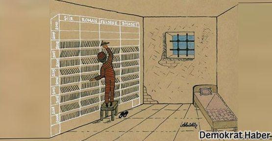 Hapishanelerdeki kitap sınırlamasına karşı faks eylemi