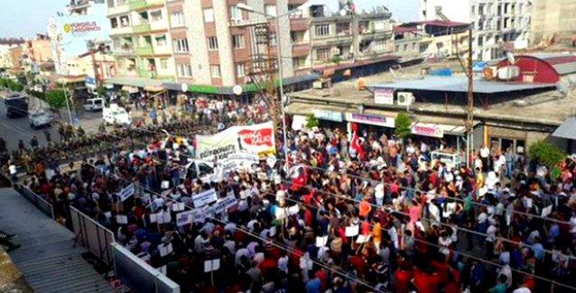 Hatay'da binlerce kişi 'Eğit Donat Projesi'ne karşı alanlara çıktı