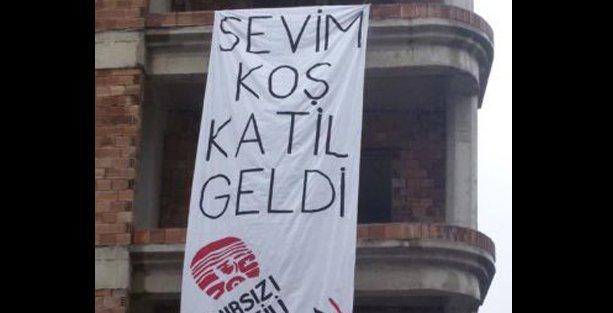 Hatay, Davutoğlu'na bu pankartla 'merhaba' dedi