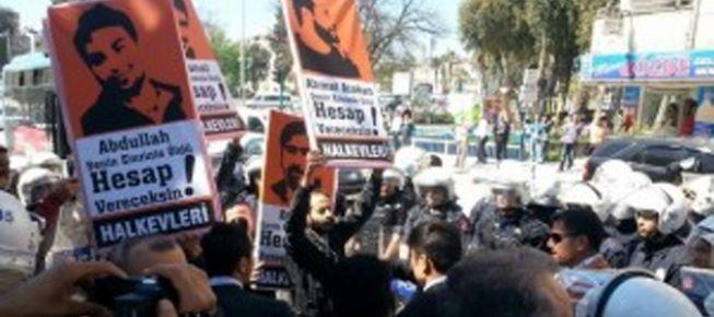 Hatay'da Başbakan protestosu