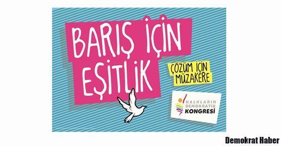 HDK'den 'çözüm için müzakere' kampanyası