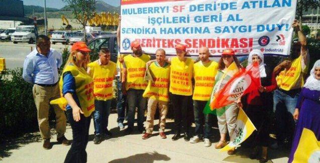 HDP'li adaylardan işten atılan işçilere destek ziyareti
