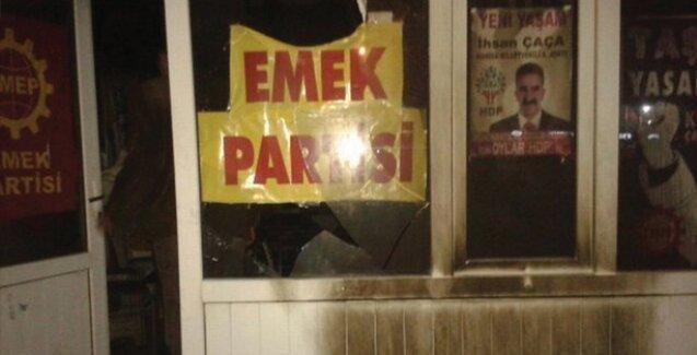 HDP Soma seçim bürosunda yangın