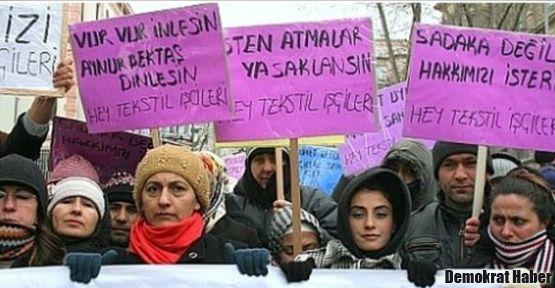 HEY Tekstil işçilerine korumalar saldırdı