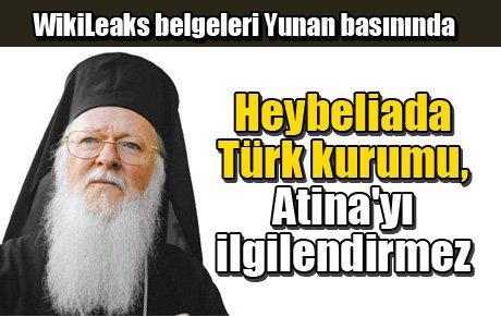 Heybeliada Türk kurumu, Atina'yı ilgilendirmez