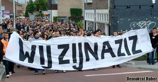 Hollanda'da ırkçı cinayete lanet: Wij Zijn Aziz