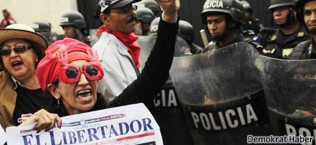 Honduras'ta muhalefet meydanlarda