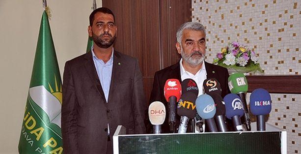 HÜDA-PAR'ın kaçırılan yöneticisi basın toplantısı düzenledi fakat hiç konuşmadı