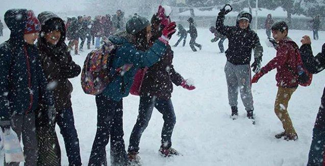 İki ilde eğitime kar tatili