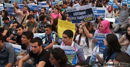 İkinci öğretimde harç protestosu yapıldı