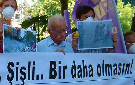 İleri demokrasi gazlarına protesto!