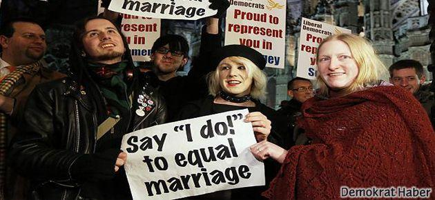 İngiltere'de eşcinsel evlilik yasasına onay