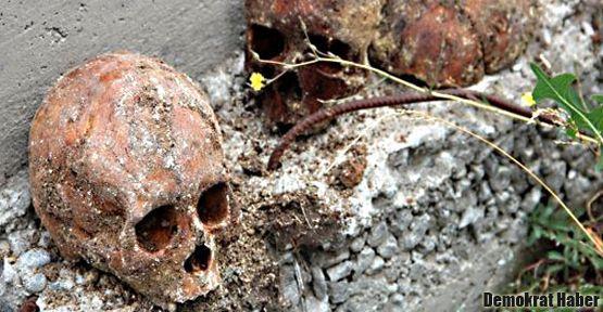 İnşaat kazısından insan kemikleri çıktı