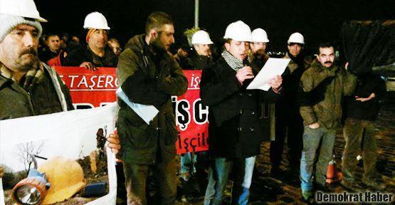 İşçi ölümlerine tabutlu protesto