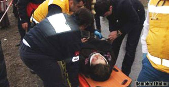 İşçi otobüsü kaza yaptı: 33 yaralı