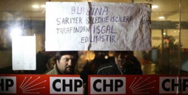 İşçiler CHP İstanbul il binasını işgal etti