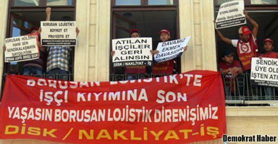 İşçileri Borusan Kültür Merkezi'ni işgal etti