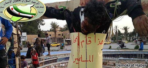 IŞİD çarmıha gererek infaz etti