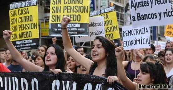 İspanya'da genç işsiz oranı rekor düzeyde