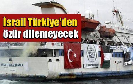 İsrail Türkiye'den özür dilemeyecek