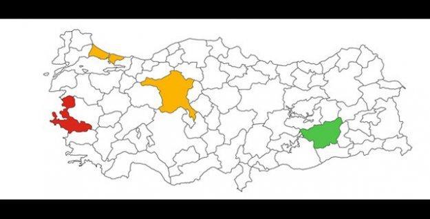 İstanbul, İzmir, Ankara ve Diyarbakır'da partilerin oy oranları