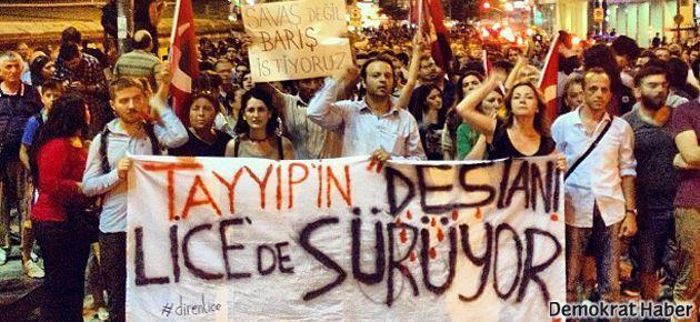 İstanbul Lice için sokaktaydı