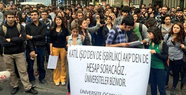 İstanbul Üniversitesi'nde IŞİD karşıtlarına ikinci saldırı!