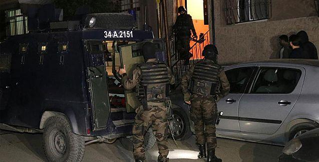 İstanbul'da helikopter destekli polis baskını